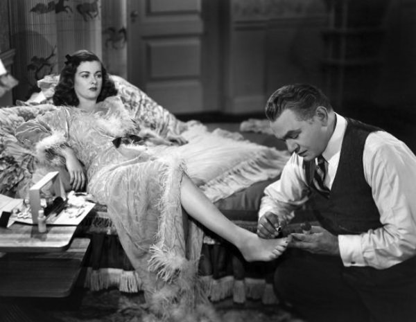 Joan Bennett and Edward G. Robinson in Fritz Lang's SCARLET STRE